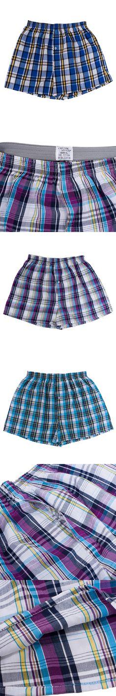Fashion Classic Plaid Men Boxer Shorts Man trunks Cotton Breathable Elastic Waist Cuecas Underpants Boxers for male Mix Color