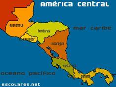Mapa de América Central Central America, North America, Countries Of Asia, Honduras, Spanish Speaking Countries, Costa Rica, How To Speak Spanish, Madrid, Mexico