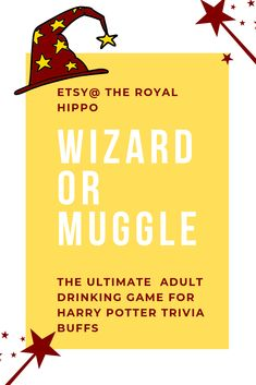 Wizard or Muggle - Fun Drinking Game For Bachelorette Party Weekend. Harry Potter Trivia Questions, Harry Potter Games, Harry Potter Wizard, Bachelorette Drinking Games, Movie Drinking Games, Harry Potter References, Adult Halloween Party, Adult Party Games