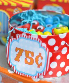 We recently styled a Circus Carnival party for twin 5 year old girls! We don't usually throw other people's party but these were. Fall Carnival, Carnival Prizes, Diy Carnival, Circus Carnival Party, School Carnival, Carnival Themes, Vintage Carnival, Carnival Birthday, Birthday Diy