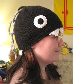 Chomp Hat by Knitting Ninja found on Ravelry.com