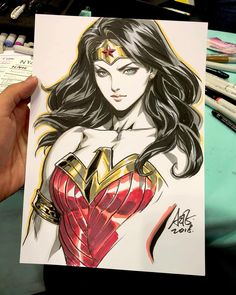 Wonder Woman is always a delight to draw. Go ahead and have fun colorinhg wonder woman coloring pages.click this pin for more wonder woman coloring pages. Wonder Woman Kunst, Wonder Woman Drawing, Wonder Woman Art, Wonder Women, Wonder Woman Comic, Cartoon Cartoon, Drawing Cartoon Characters, Cartoon Drawings, Art Drawings