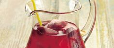 """You're about to enjoy some """"berry"""" sweet sipping!  Raspberries turn lemonade into a very rosy beverage."""