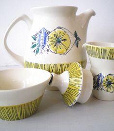 Scandinavian Stavangerflint Bambus Teapot Creamer and Bowl. $42.00, via Etsy.
