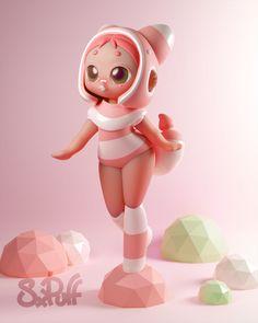 Character Modeling, 3d Character, Character Design, 3d Figures, Anime Figures, Food Graphic Design, Graphic Design Illustration, Dibujos Zentangle Art, Modelos 3d