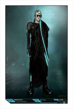 Dazzling TRON: LEGACY Costume Concept Art by Steve Jung « Film Sketchr