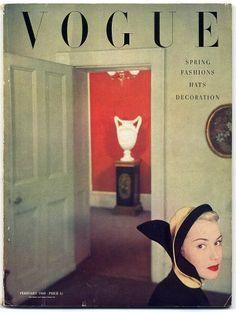British Vogue, February 1950, Cartier Wartski.