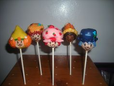 Fun Strawberry Shortcake Pops! I made these for a little girl's B-day party!! Crafted by: ~Cake Pops By AJ~