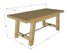 I want to make this!  DIY Furniture Plan from Ana-White.com  Free woodworking plans to make a Farmhouse Table inspired by Pottery Barn Benchwright Table. Features metal stretcher and lots of details to make your table interesting and unique. Save thousands off retail the do it yourself furniture way.