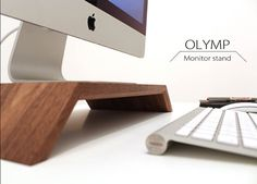 WoodUp OLYMP Monitor wooden stand for iMac by WoodUpBerlin