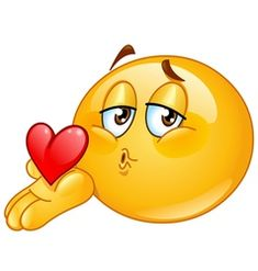 Illustration about Cute emoticon blowing a kiss. Illustration of blow, emoticon, affection - 14654286 Smileys, Funny Emoticons, Funny Emoji, Smiley Emoji, Cool Emoji, Emoji Love, Clipart Smiley, Cartoon Kiss, Bisous Gif
