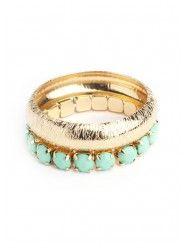 Golden Duo Bracelet in Seafoam  $18.00