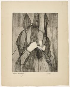 Louise Bourgeois, Les Trois Fées, 1948 – state V of VIII – engraving with scorper, and hand additions