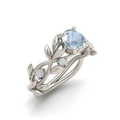 Elegant Women 925 Silver Ring 2.1Ct Aquamarine Wedding Engagement Ring Size 6-10