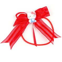 46732bad5 Hello Kitty Ponytail Holder Ribbons ($4.50) ❤ liked on Polyvore featuring  accessories, hair