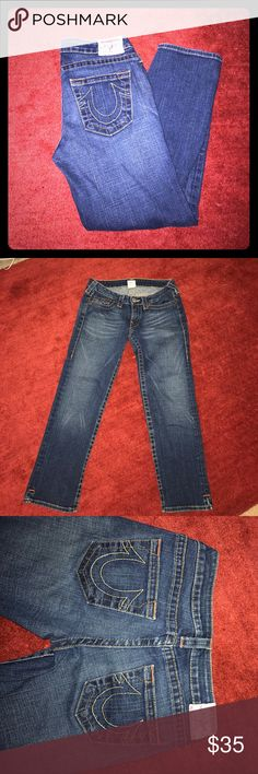 NWOT True Religion sz 28 ankle length jeans NWOT True Religion sz 28 ankle length jeans. No rips, holes, tears, stains. No signs of wear all. Smoke free home. Offers welcomed. True Religion Jeans Ankle & Cropped