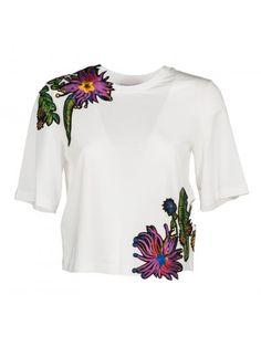 3.1 PHILLIP LIM 3.1 Phillip Lim Floral Embroidered T-Shirt. #3.1philliplim #cloth #https: