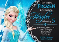 Frozen Invitation Elsa Invitation  Frozen Party by SmileParty