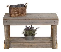 Averie Wood Entryway Bench