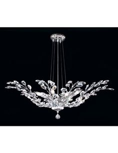 This eight-light chandelier from James R. Moder's Floral Collection has a delicate design. WTC 303-1. www.jamesrmoder.com