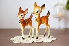 Cute Vintage Bambi Deer figurines.  I  Have one!!  Funny.