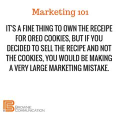 Marketing isn't just selling. It's knowing what to sell and how to sell it as part of a larger plan