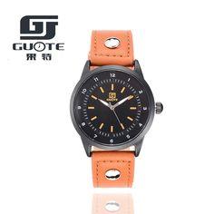 2016 Merk GUOTE Horloges mannen Casual Quartz Lederen polshorloge Militaire…