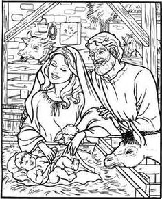 Free Coloring Pages Of Christmas Nativity