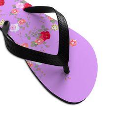 (1) Pink Red Floral Rose Print Unisex Flip-Flops Beach Pool Cute Sandals- Made in USA | Heidi Kimura Art LLC Floral Flip Flops, Cute Flip Flops, Beach Flip Flops, Flip Flop Shoes, Floral Sandals, Cute Sandals, Floral Print Shoes, Floral Prints, Designer Flip Flops