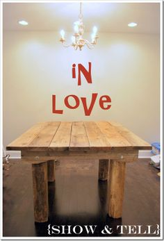 farmhouse table...4-8x8's,2-end pieces,2-skirt pieces,7 pieces for top, lug nuts, framing nailer...
