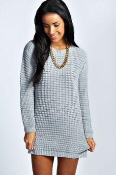 Julia Bobble Knit Jumper Dress at boohoo.com