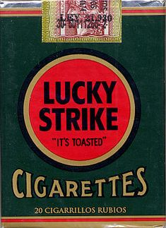 Flyer Goodness: Vintage Lucky Strike Cigarette Packaging