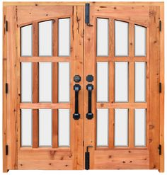 French Door - Forged Iron & Glass Double Doors - 7019GPA