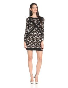 facfb70f7c7 Amazon.com  Tracy Reese Women s Spliced Shift Dress
