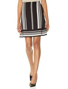 Symmetrical Stripe Skirt from THELIMITED.com #TheLimited