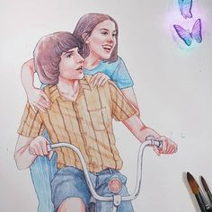 Stranger Things Mike and Eleven by Trishna tri a. negaara, trishnagaara, Finn Wo - New Ideas Stranger Things Actors, Stranger Things Quote, Stranger Things Aesthetic, Stranger Things Season 3, Eleven Stranger Things, Stranger Things Netflix, Stranger Danger, Millie Bobby Brown, Sketches