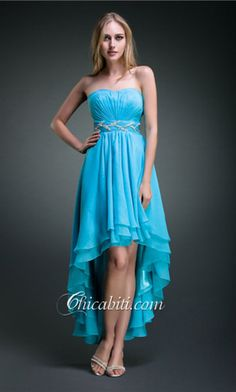 6d07c8736913 Abito da Festa High-low in Lustrino Cintura Scollo Cuore ACM069  ACM069   .  High Low Prom DressesCute ...