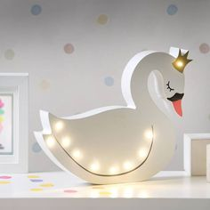Swan LED Light Are you interested in our swan night light for a nursery? With our childs bedroom led Swan Nursery Decor, Girl Nursery, Girls Bedroom, Bedroom Decor, Childs Bedroom, Lego Bedroom, Princess Nursery, Kid Bedrooms, Girl Rooms