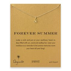 Dogeared Forever Summer Gold Nautilus Shell Necklace