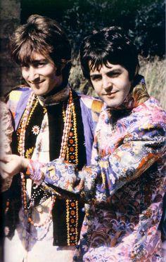 John Lennon & Paul McCartney, making delightfully creepy faces