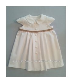 Baby Girl White Cotton Pique Summer Dress by SydneynMilaBoutique, $52.00