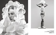Danni Li by Trunk Xu for Harper's Bazaar China  A visually striking story featuring outfits crafted solely from hand cut paper by chinese traditional paper-cutting artists – truly inspiring.