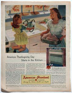 Vintage 1946 Ad Thanksgiving Kitchen Sink Kelvinator by 833vintage, $8.00