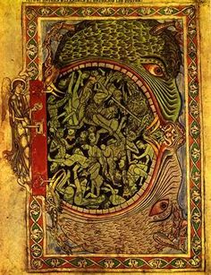 Hellmouth, Winchester Psalter, Winchester, England, c.1150