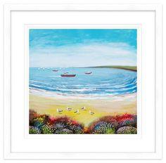 Beach Gulls Framed