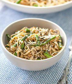 #Recipe: Miso-Roasted Asparagus Soba Noodle Salad
