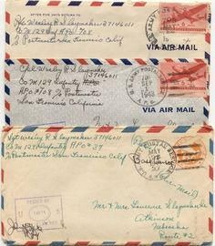 air mail...Our love letters every single day for such a very, very long time...