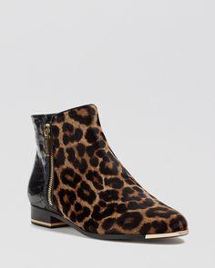 Michael Kors Booties - Cindra Flat Leopard Print | Bloomingdale's