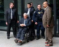 Former House Speaker Dennis Hastert departs the federal courthouse Wednesday, April 27, 2016, in Chicago, after his sentencing on federal banking charges which he pled guilty to last year.  (AP File Photo/Charles Rex Arbogast)