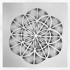 Dotwork Mandala, flower of life by mjkazemier.deviantart.com on @DeviantArt
